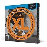 D'Addario Nickel Wound Electric Guitar Strings, 1-Pack, Lt. Top/Hvy....