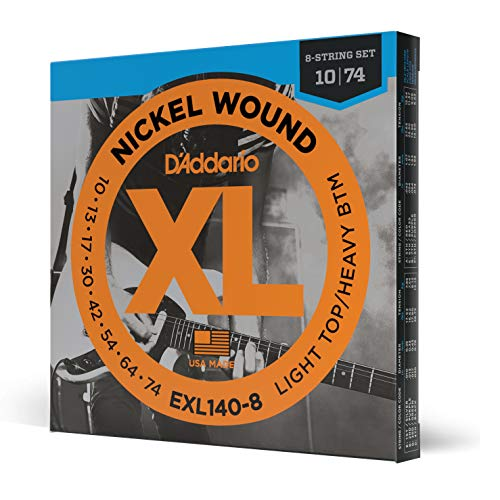 D'Addario Nickel Wound Electric Guitar Strings, 1-Pack, Lt. Top/Hvy....