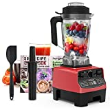 Homgeek Professional Blender, Countertop Blender 1450W, High Power...