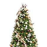 KI Store 6ft Artificial Christmas Tree with Ornaments and Lights...