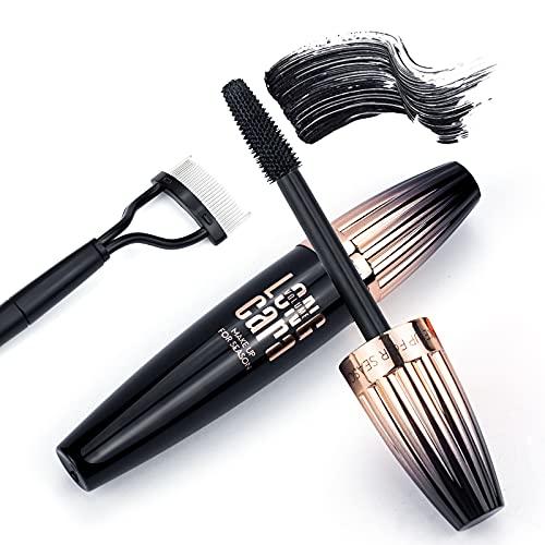 4D Silk Fiber Lash Mascara with Folding Eyelash Comb, Long Lasting...