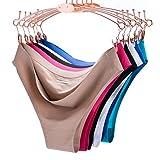 COSOMALL 6 Pack Women Invisible Seamless Bikini Underwear Half Back...