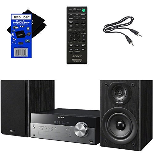 Sony All-in-one Stylish Micro Music Hi-Fi Bookshelf Stereo System for...