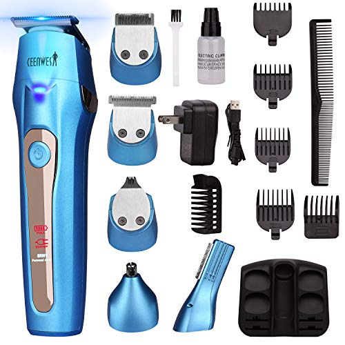 Ceenwes Cool 5 In 1Mens Grooming Kit Professional Beard Trimmer...