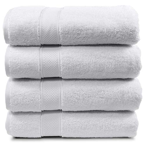 Maura 4 Piece Bath Towel Set. Extra Large 30'x56' Premium Turkish...