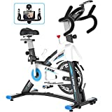 L NOW Indoor Exercise Bike Indoor Cycling Stationary Bike, Belt Drive...