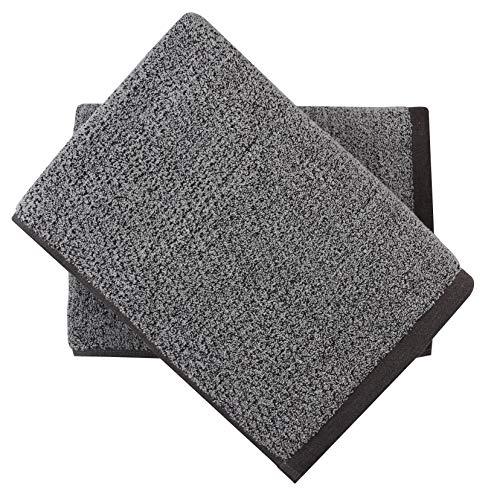 Everplush Diamond Jacquard Bath Towel Set, 2 Pack (30 x 56), Grey 2...