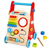 cossy Wooden Baby Walker Toddler Toys for 18 Months and up, Push Toy...