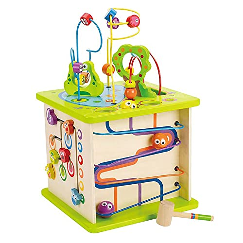 Country Critters Wooden Activity Play Cube by Hape   Wooden Learning...