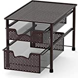 SimpleHouseware Stackable 2 Tier Sliding Basket Organizer Drawer,...