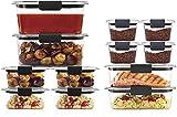Rubbermaid Brilliance Storage 24-Piece Plastic Lids | BPA Free, Leak...