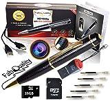 Gadgets Spy Camera Pen Bundle 1080p HD Spy Pen 16GB SD Micro Card +...