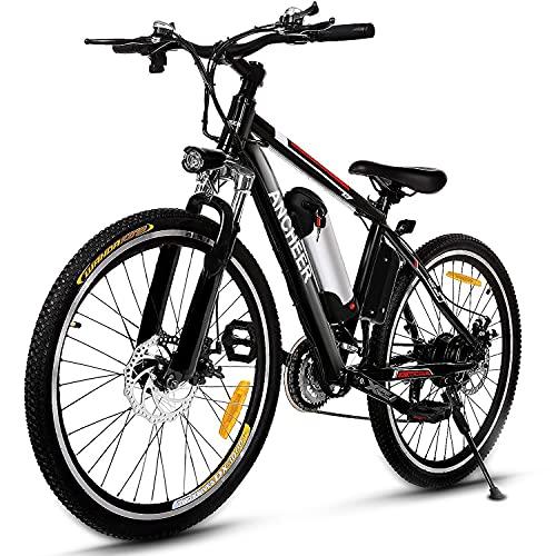 ANCHEER 500W/250W Electric Bike Adult Electric Mountain Bike, 26'...
