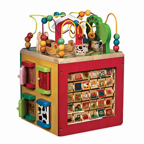 Battat – Wooden Activity Cube – Discover Farm Animals Activity...