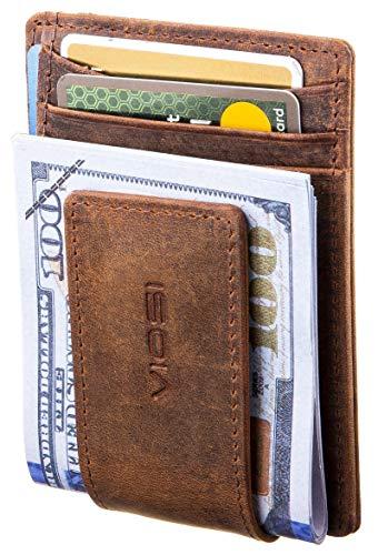 VIOSI Money Clip Slim Leather Wallet For Men Front Pocket RFID...