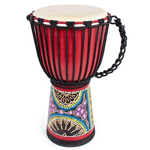 Kmise Djembe African Hand Drum Mahogany Bongos Standard Goat Skin...