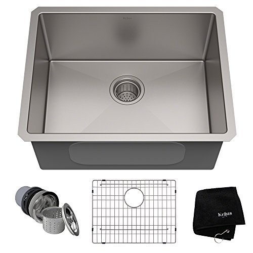 KRAUS Standard PRO 23-Inch 16 Gauge Undermount Single Bowl Stainless...
