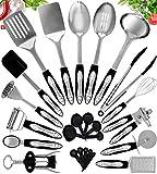 Home Hero Stainless Steel Kitchen Cooking Utensils - 25 Piece Kitchen...