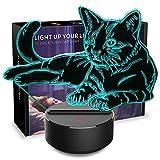3D Night Light Pet Cat 3D Lamp Optical Illusion Nightlights Touch...