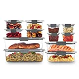 Rubbermaid Brilliance Storage 24-Piece Plastic Lids | BPA Free, Leak...