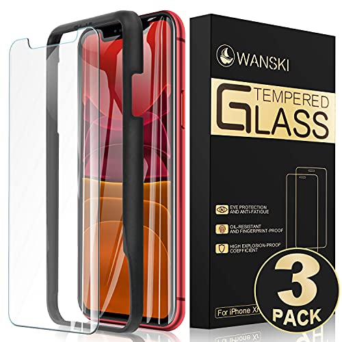 Wanski Tempered Glass Screen Protector for iPhone Xs, iPhone X, iPhone...