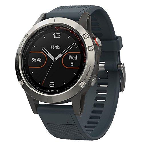 Garmin fēnix 5, Premium and Rugged Multisport GPS Smartwatch, Granite...