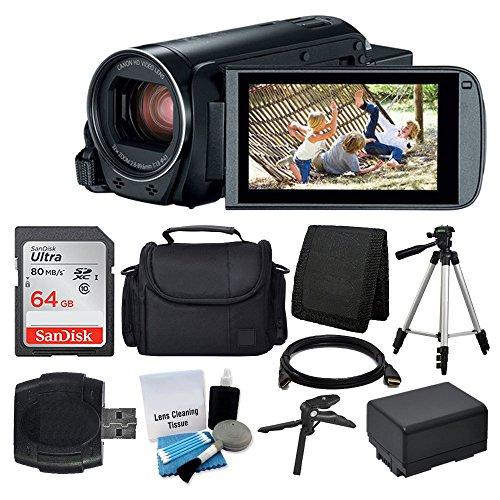 Canon VIXIA HF R800 Camcorder (Black) + SanDisk 64GB Memory Card +...