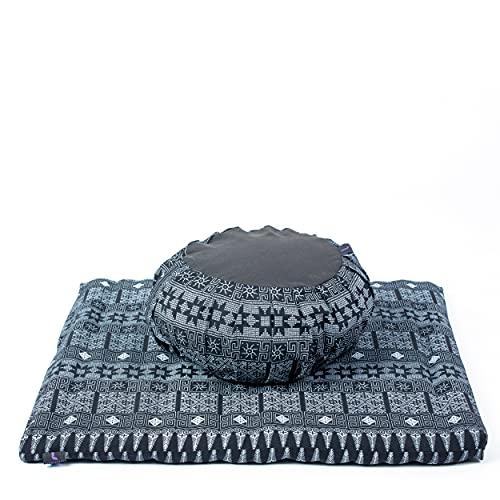 Leewadee Meditation Cushion Set Cover Removable and Washable Round...