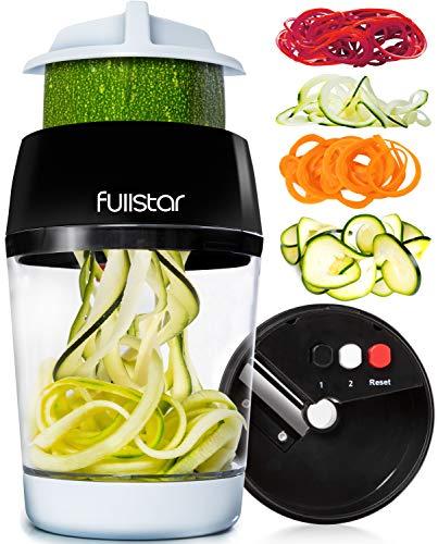 Fullstar Vegetable Spiralizer Vegetable Slicer - 4 in 1 Zucchini...
