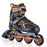 2PM SPORTS Torinx Orange Black Boys Adjustable Inline Skates, Fun...