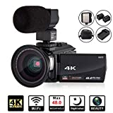 4K Camcorder Video Camera KOT HD WiFi 3.0 Inch IPS Touch Screen 48MP...