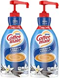 Nestle Coffee mate Coffee Creamer, French Vanilla, liquid pump bottle,...
