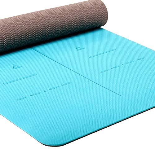 Heathyoga Eco Friendly Non Slip Yoga Mat, Body Alignment System, SGS...