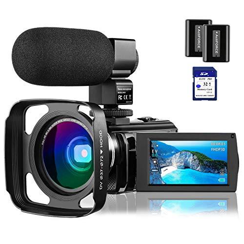 4K Camcorder Video Camera Vlogging Camera for YouTube Rosdeca Ultra HD...