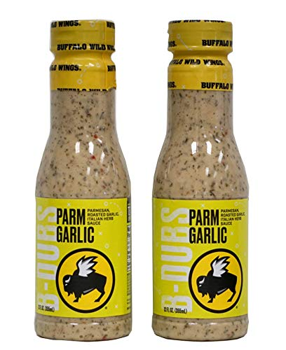 Bundle of 2 - Buffalo Wild Wings Parmesan Roasted Garlic Sauces, 12 fl...