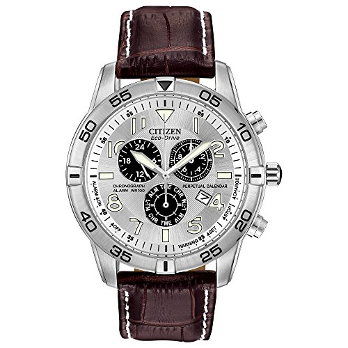 Citizen Men's Eco-Drive Chronograph Watch with Perpetual Calendar and...
