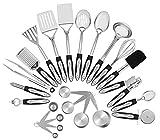 Chef Essential 23-Pc Stainless Steel Kitchen Utensil Set, Nonstick...