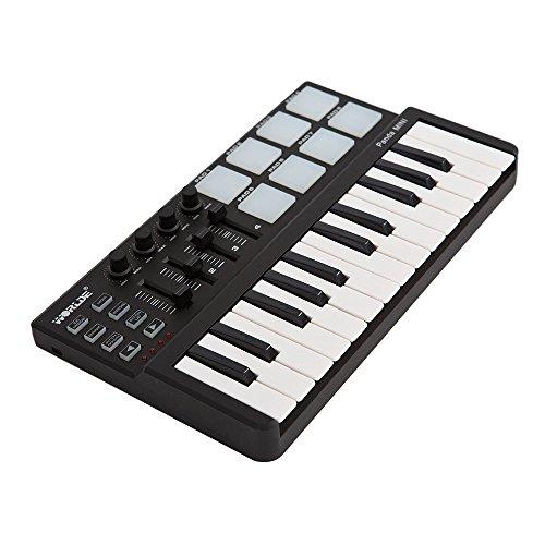ammoon Worlde Panda mini Portable Mini 25-Key USB Keyboard and Drum...