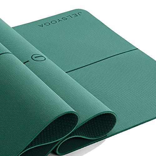 JELS Yoga Mat Fitness Mat 1/4inch Non Slip, TPE Sustainable Yoga Mats...