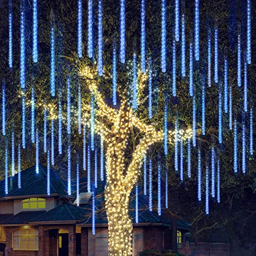 Joiedomi Christmas Meteor Shower Lights Falling Rain Drop Icicle...