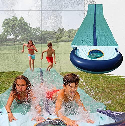 TEAM MAGNUS Slip and Slide - Central Sprinkler and XL Crash pad for...