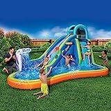 Inflatable Giant Water Slide - Huge Kids Pool (14 Feet Long by 8 Feet...