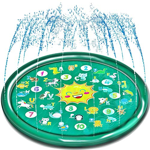 Neteast Outdoor Kids Splash Pad Toys for Toddlers, Outside Baby...
