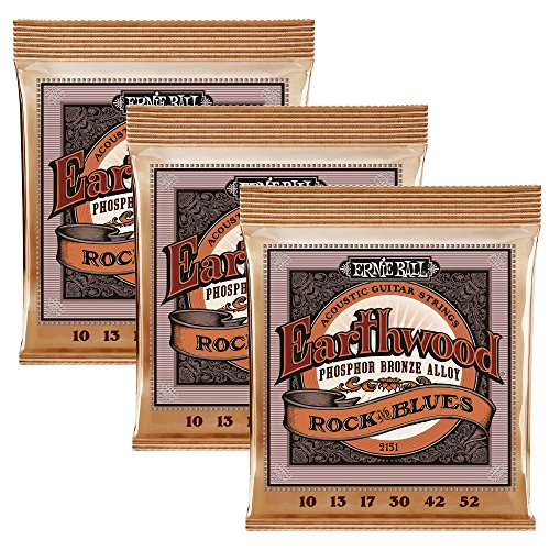 Ernie Ball Earthwood Phosphor Bronze Rock & Blues (10-52 w/plain G)...