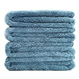 Polyte Quick Dry Lint Free Microfiber Bath Towel, 57 x 30 in, Set of 4...