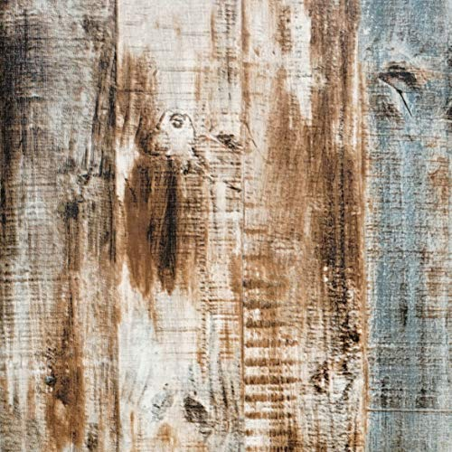 197'x17.7' Wood Peel and Stick Wallpaper Self-Adhesive Removable Wall...