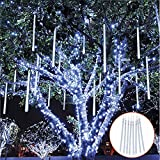 Falling Rain Decoration Lights, TOPIST Waterproof LED Meteor Shower...