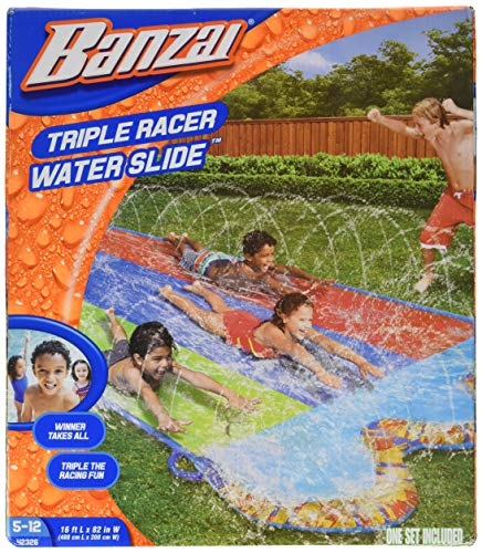 BANZAI Triple Racer Water 16 Feet Long, Slide (42326)