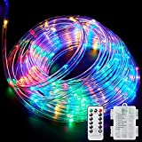 Ollivage LED Rope Lights Outdoor String Lights Battery Powered with...