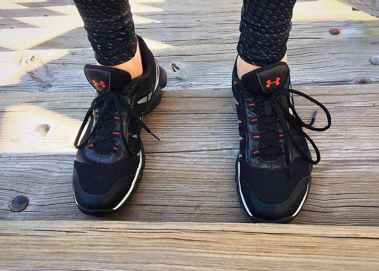 all black running shoes
